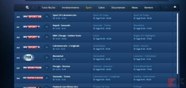 programma coolstreaming it calcio tv